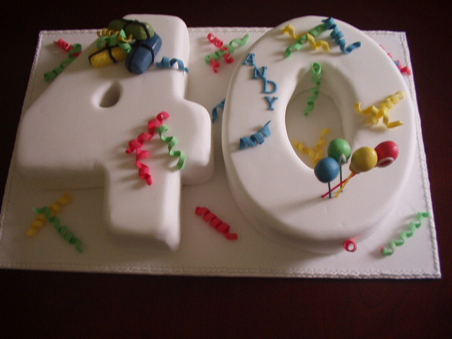 Simple 40th Birthday Cakes Picture